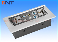 China HDMI Pop Up Plug  With RJ45 Network , Desk Hidden Socket For Meeting Table company