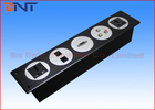 Black Changeable Wall Socket Plates , 5 Circles Media Wall Outlet