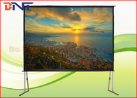 China Portable Rear Projection Projector Screen , 150 Inch 4:3 Fast Fold Projection Screen company