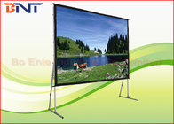 China Aluminum Alloy Frame Portable Projection Projector Screen Front And Rear Projection Screen factory