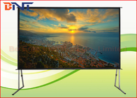 China Larger Room Front Rear Fast Fold Projector Screen 300 Inch With Aluminum Frame factory