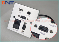 China Aluminum silver Brushed Multi - functional Wall Socket Plates with 10 cm HDMI cables factory