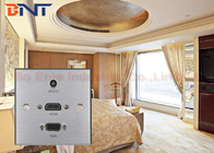 Aluminum alloy 86 * 86 Female Wall Socket Plates for Hotel AV Solutions