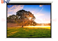 Matte White Manual Projection Projector Screen 100 Inch for Office / Home