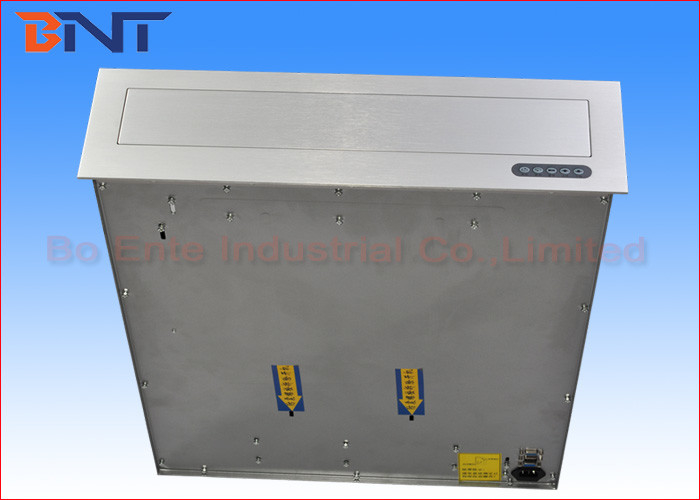19 - 22 Inch Desktop Computer Monitor Lift With Stainless Steel Panel