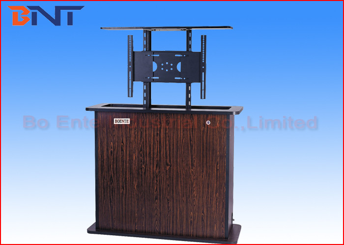 Wireless Control Motorized TV Lift , Plasma TV Cabinet Lift Cold Rolled Steel