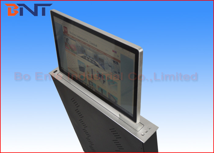 21.5 Inch FHD Screen Electric LCD Monitor Lift For Conference Room