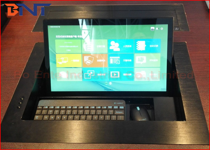 "Video Conference Motorized Monitor Lift With Dell 19"" Screen 565*395*5mm"