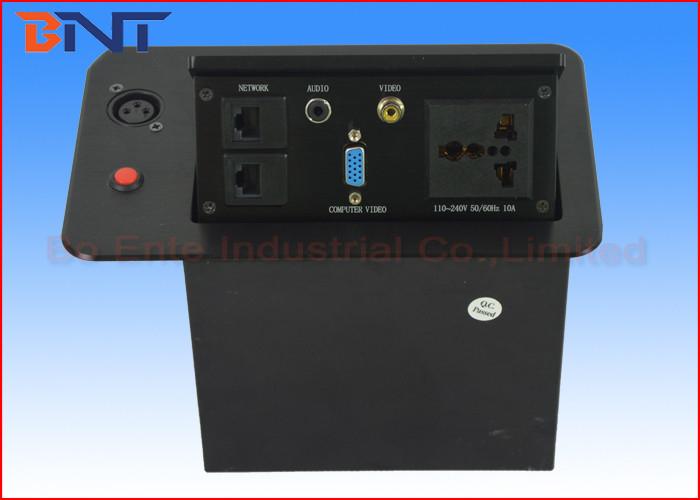 Pop Up Hidden Desktop Power Sockets For Conference Room Table AV - Conference room table power solutions