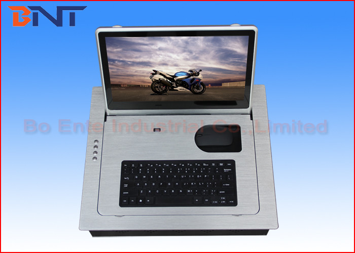Flush Mounted Computer Monitor Lift , 15.6 Inch  Screen LCD Monitor Lift