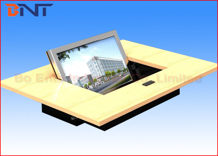 Black Matte Touch Screen Flip Up  LCD Monitor Lift For Audio Video Conference