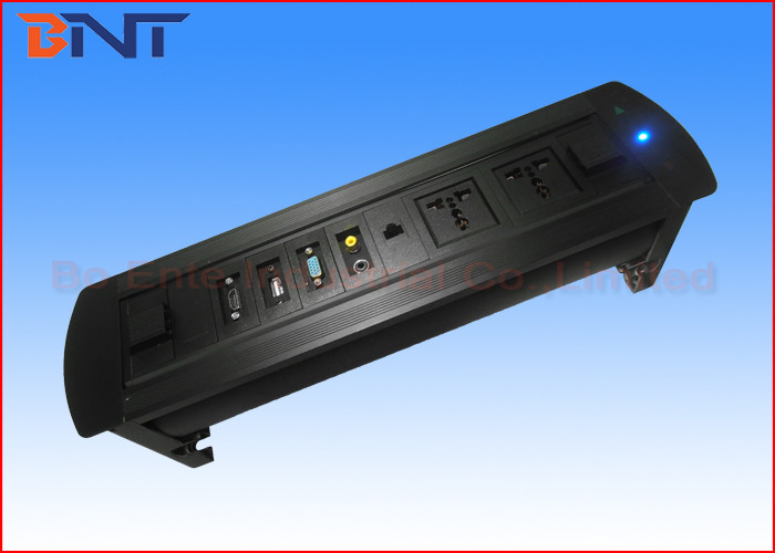 Motorized Conference Table Socket Table Hidden Rotating Electrical - Conference table electrical sockets