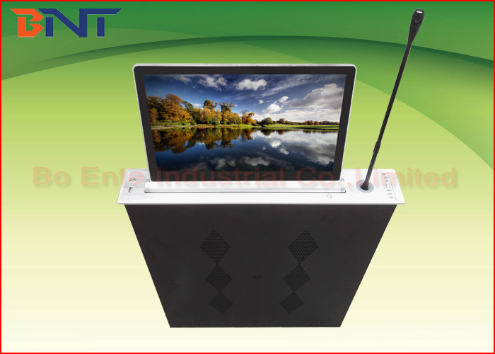 Aluminum Alloy Integrated Ultra Thin LCD Monitor Lift With Touch Panel Control
