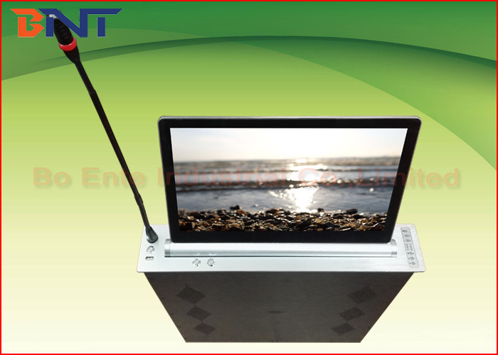 Conference Microphone LCD Monitor Lift with 18.5 Inch Ultra thin Screen for Audio System