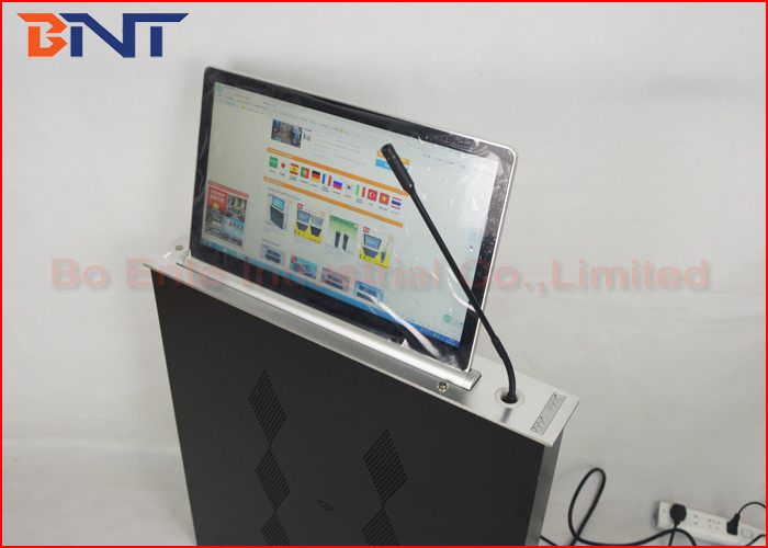 Slim Conference Tabletop LCD / LED Monitor Motorized Lift With Microphone