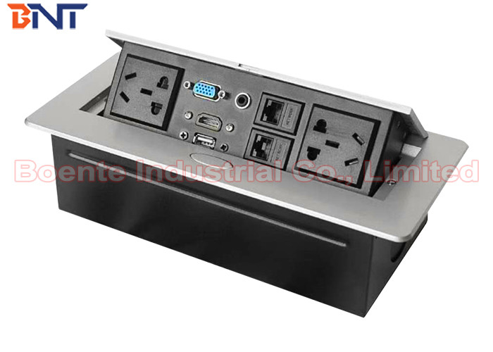 Conference Table Pop Up Outlets With Pin Power Plug And HDMI Port - Conference table power module with hdmi