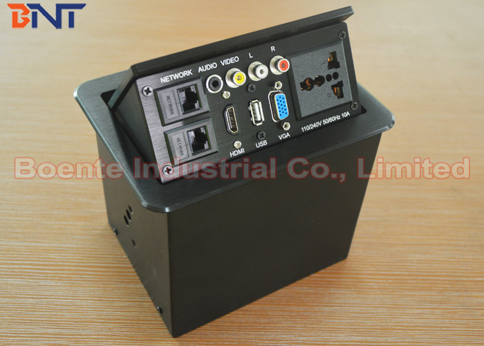 Humanization Desktop Power Sockets With Laser Logo Conference - Conference table pop up box