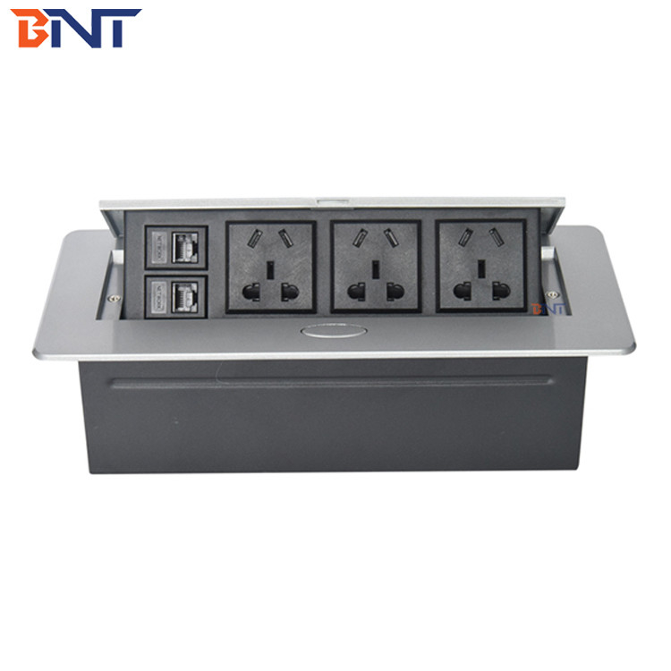 Contain  ODM/OEM  Zinc  Alloy Table Pop Up Power Data Connector  With 110~240V  Rated Voltage
