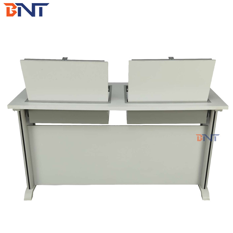 Smart LCD monitor flip up case student  desk With buffering hydraulic pressure Lock