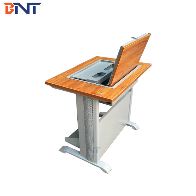 120 degree retatable angle Monitor Sreen Flip up computer  desk   with security lock design