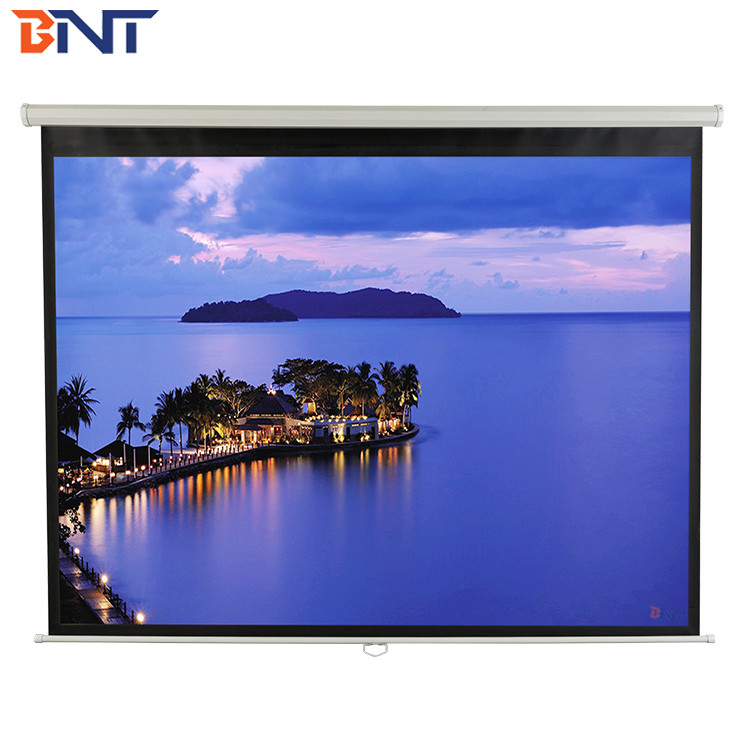 4:3 format projector motorized  screen with double control ways