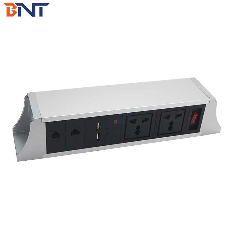 with hanging bracket  telephone interface used in meeting room desk hanging power socket