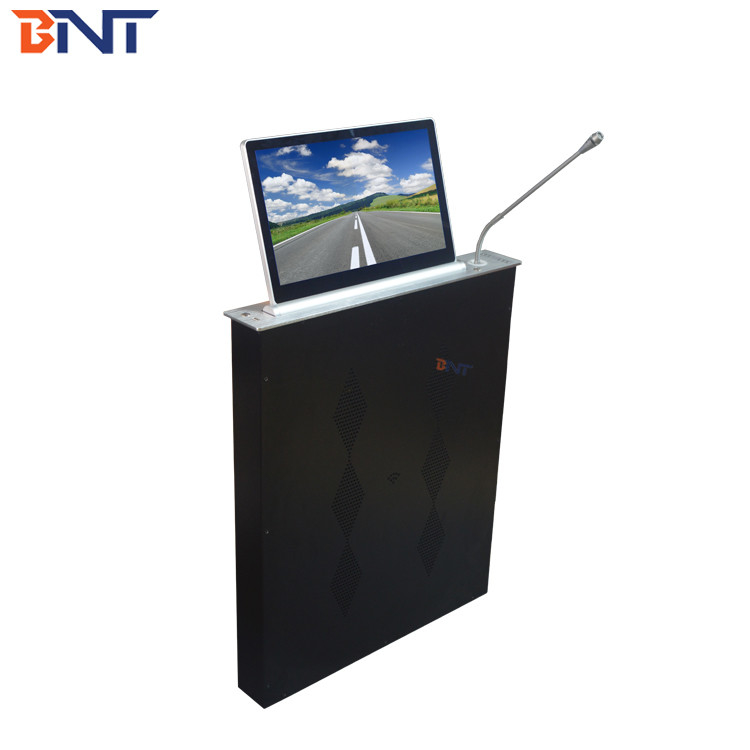 BNT   15.6 inch screen  with  Mic used in larger business  meeting room  lcd monitor mechanism BLM-15.6