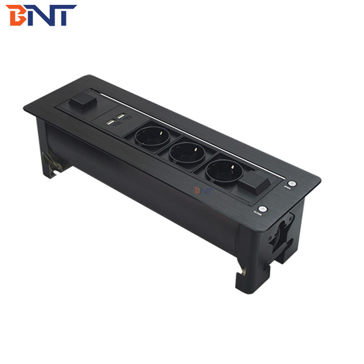 black color EU power plug used for conference system electric flip up socket