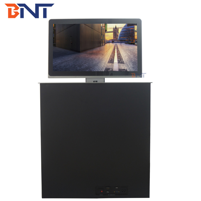 17.3 inch monitor screen remote control motorized ultra thin lcd monitor lift BLL45-17.3