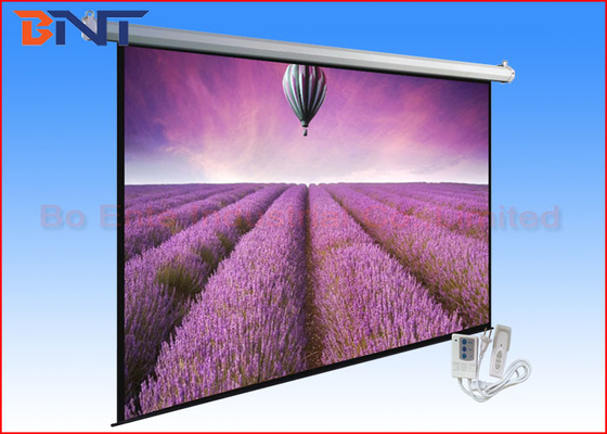 Retractable Tensioned Projection Projector Screen 120 Inch With Romote