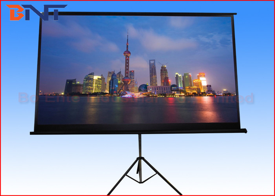 Large Pull Down 100 Inch Portable Projector Screen Tripod Stand Foldable