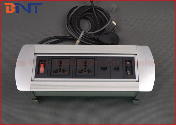 Manual Flip Up Conference Table Socket Interconnection Box 110V - 240V AC