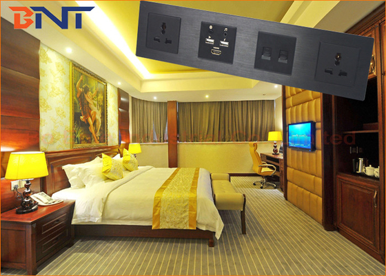 Bluetooth Multimedia Media Hub Integrated Tempered Glass Front Panel For Hotel