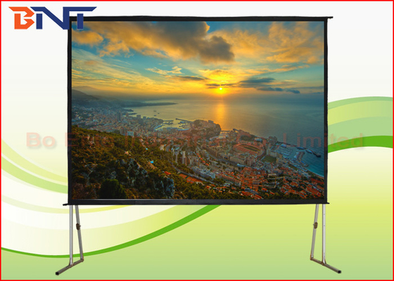 Portable Rear Projection Projector Screen , 150 Inch 4:3 Fast Fold Projection Screen