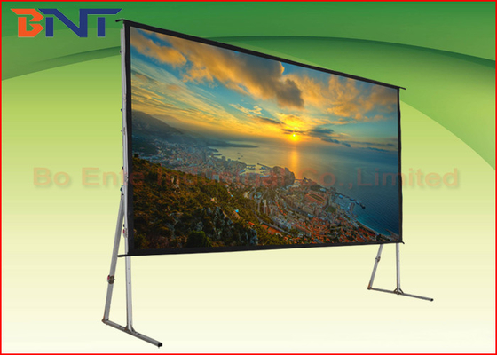 3D High Gain Fast Fold 16:9 120 Inch Projector Screen With Stand
