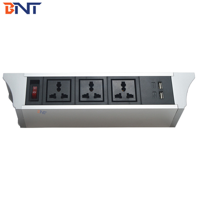 double hanging pvc design hanging table power socket used in conference system TUS102