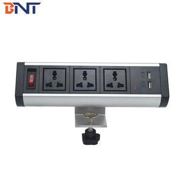 aluminum alloy material movable desk power socket used in conference system BTS-303S