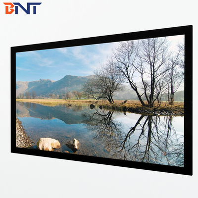 150 inch 16:9 format wall  mount projection screen with frame corner 45 degree design BETFS9-150