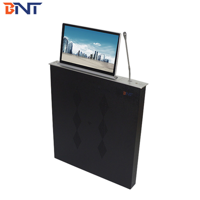 BNT 17.3 inch screen ultra-thin table monitor motorized lifter with microphone BLM-17.3M