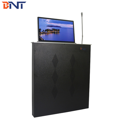 18.5 inch FHD screen desk pop up lcd monitor hidden lift with aluminum alloy material used in high-tier office room