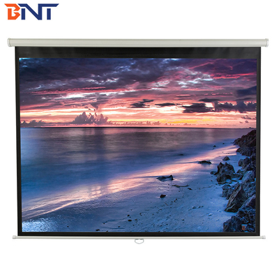 84 inch 4:3 format electrical projector screen with 100 degree viewing angle