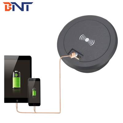 hidden into desk mounted design for mobile phone wireless charger