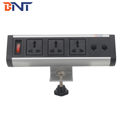 multifuncional table top outlet socket power strip/office desk mounted power and data center